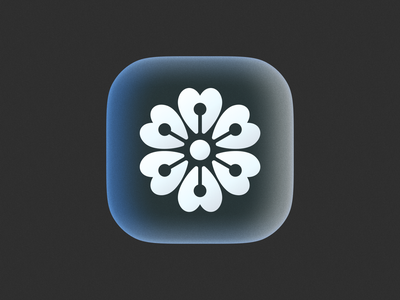 Love Flower icon! petal love heart rose flower big sur brand identity 3d app ios icons monochrome logodesign logo design symbol branding icon mark brand logo