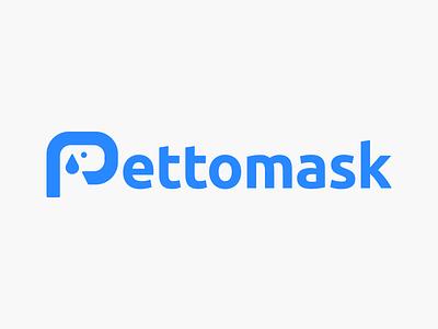 Pettomask logo! pets visual identity brand identity negative space logotype wordmark type letter pettomask pet dog geometric logodesign logo design symbol icon branding mark brand logo