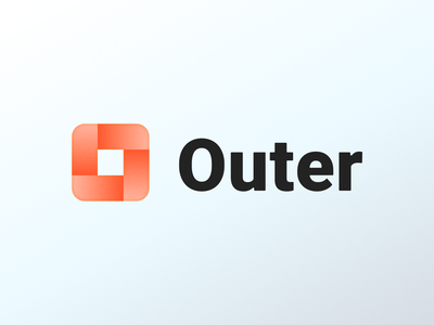 Outer! branding design brand design visual identity brand identity startup architecture 3d infinity square cube abstract geometric logodesign logo design symbol branding mark brand icon logo