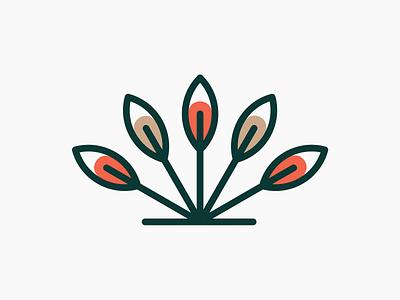Neal Farm symbol! visual identity brand identity leaves leaf wheat plant icon illustration geometric logodesign logo design symbol branding mark brand logo