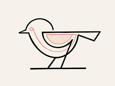 Monoline Geometric bird! monochrome sketch branding design brand identity linework wings stroke minimal bird monoline illustration geometric logodesign logo design symbol branding icon mark brand logo