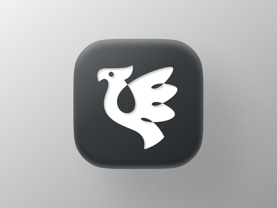 Bird icon! monochrome branding design wings eagle brand identity falcon mac bigsur app ios bird illustration icon logodesign logo design symbol branding mark brand logo