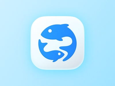 Fish icon! branding design marine app big sur ios brand identity aquatic aqua tuna sea fish illustration logodesign logo design symbol branding mark icon brand logo
