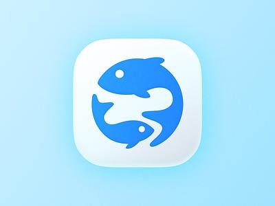 Fish icon! branding design marine app big sur ios brand identity aquatic aqua tuna sea fish illustration logodesign logo design symbol branding mark icon brand logo