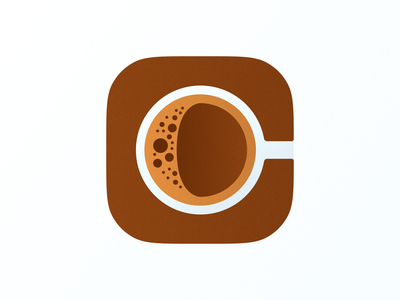 C for Coffee icon! letter c 3d brand identity drink mac big sur app ios coffee illustration geometric logodesign logo design icon symbol branding mark brand logo