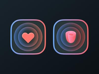 icons! icons brand identity square big sur app ios heart love flower rose illustration geometric logodesign icon logo design symbol branding mark brand logo