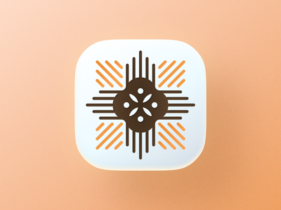 Bio icon! visual identity brand identity big sur rose flower app ios bakery plant wheat abstract geometric logodesign logo design symbol branding mark brand icon logo