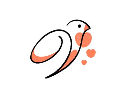 Love parrot! branding design brand identity lineart monoline pigeon dove parrot love heart abstract bird illustration logodesign logo design symbol branding mark brand icon logo