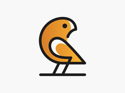 Golden Parrot! minimal monoline tweet nest brand design golden parrot brand identity bird illustration logodesign logo design symbol icon branding mark brand logo