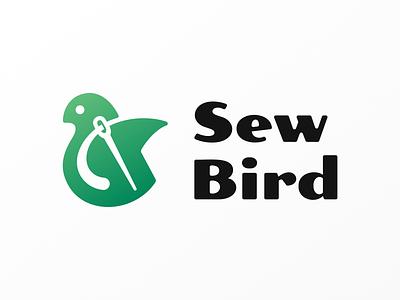 Sew bird! needle negative space wings thread sew visual identity brand identity bird illustration logodesign logo design symbol branding mark brand icon logo