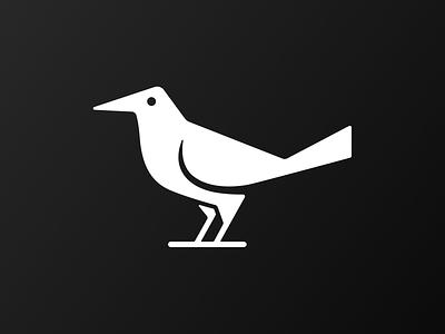 Grackle Mark! monochrome brand identity crow negative space bird parrot grackle illustration design logo design symbol branding mark brand icon logo