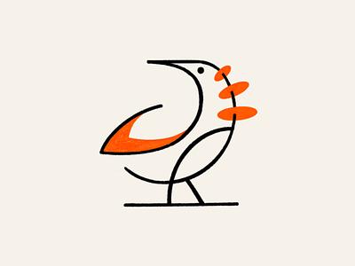 Abstract Monoline bird! nest birds brand design brand identity parrot app web minimal lineart abstract monoline illustration logo design symbol branding mark brand icon logo