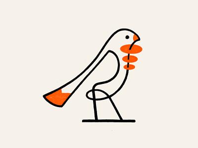 Monoline Tweeter! birds nest brand design brand identity lineart minimal monoline parrot tweet tweeter icon illustration design logo design symbol branding mark brand logo