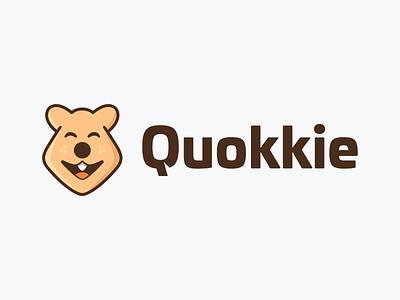 Quokkie! character playful mascot branding design visual identity brand identity happy australia quokkie quokka animal bear illustration symbol mark icon logo design branding brand logo