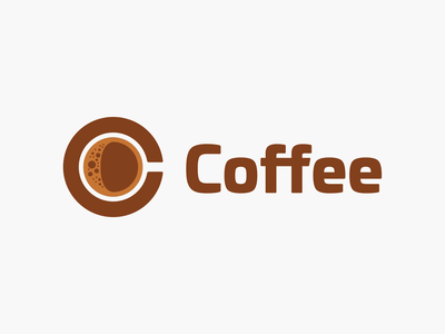 Coffee! logotype branding design brown bubble brand identity bubbles dring cup cafe coffee illustration design symbol mark icon logo design branding brand logo