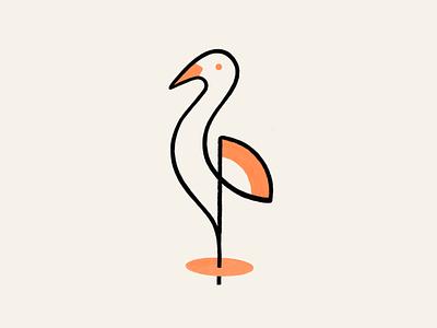Crane! branding consultant lineart stroke sketch monoline redesign rebrand brand identity stork crane birds bird illustration logo design symbol mark branding brand icon logo