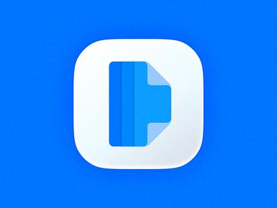 Docu icon! paper revamp redesign rebrand brand identity 3d big sur saas app ios file document ui logo design icon symbol mark branding brand logo