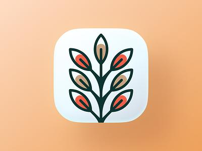 Pianta! big sur redesign tree leaves leaf rebrand brand identity ios app wheat plant ui illustration logo design symbol mark branding brand logo icon