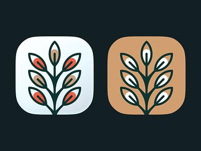 Pianta icons! flower icons mac big sur ios app saas brand identity tree plant wheat ui illustration icon logo logo design symbol mark branding brand