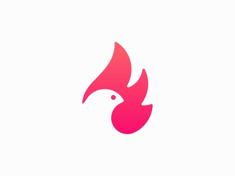 Fire bird ! nest for sale mascot burn flame phoenix fly fire eagle dove bird animal illustration logo design symbol brand branding mark icon logo