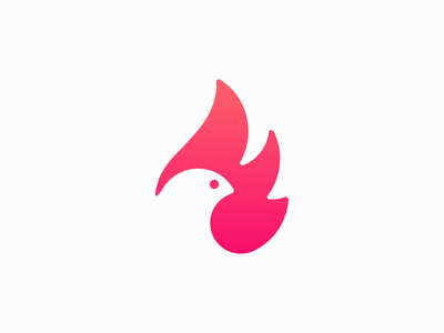 Fire bird ! nest for sale mascot burn flame phoenix fly fire eagle dove bird animal illustration logo design symbol brand branding mark icon logo
