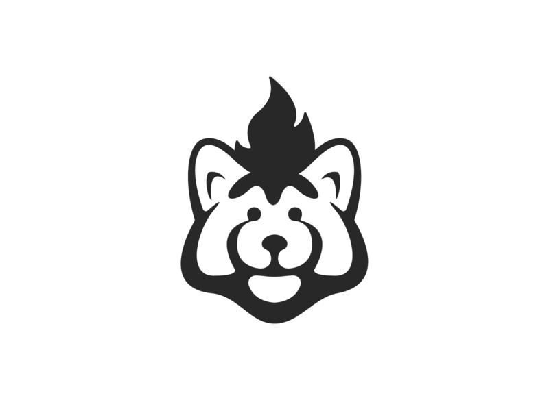 Red Panda negative space panda redpanda red monochrome monomark animal logo design logodesign symbol brand mark branding icon logo