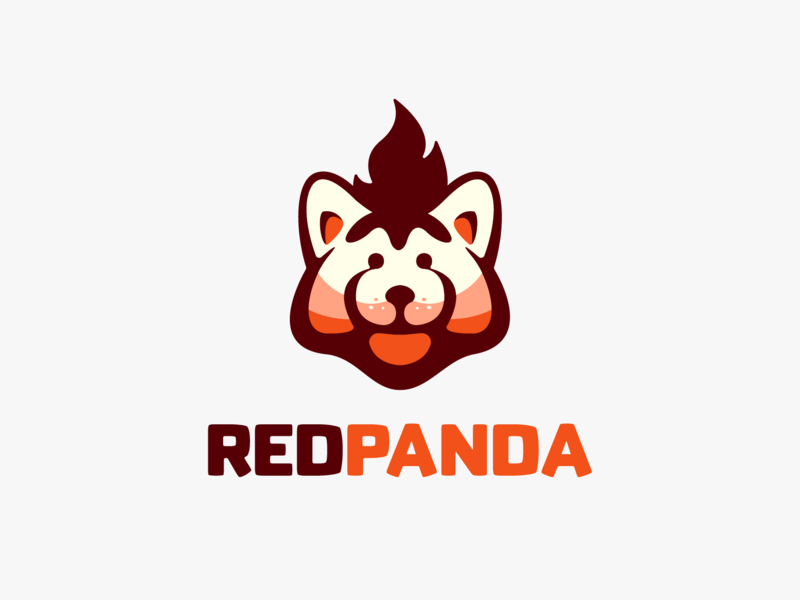 RED PANDA ! logo icon branding mark brand symbol logodesign logo design animal monomark monochrome red redpanda panda