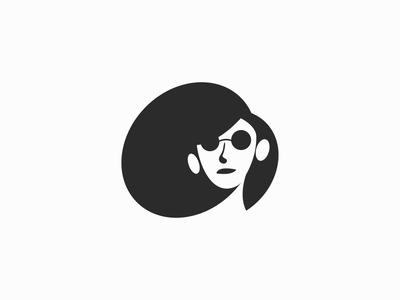 Faya ! for sale mascot face black negative space summer glasses hair monochrome logo mark branding icon brand symbol logo design character illustration design girl