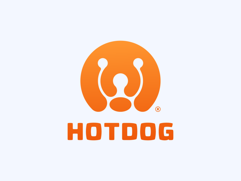 HOTDOG ! pet dog type geometric abstract animal illustration logo design logodesign symbol brand branding mark icon logo