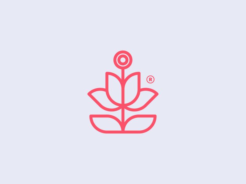 Floral symbol! vintage flower plant abstract monomark geometric monogram logo design logodesign symbol brand branding mark icon logo rose flores floral art floral