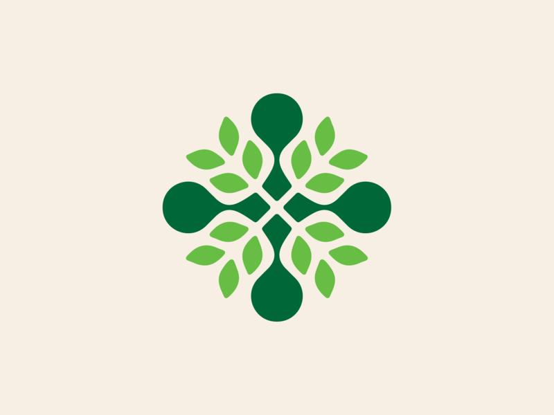 Bio ( Symbol ) field tree plant flower monochrome abstract geometric logo design logodesign symbol brand branding mark icon logo rose leaf bio wheat corn