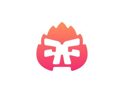 Fire skull II