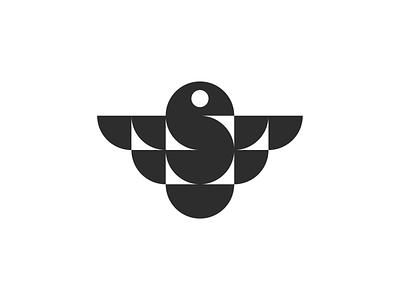 Geometric bird mark! monogram letter s aviation falcon eagle for sale wings nest dove bird monochrome geometric logodesign logo design symbol brand icon mark logo