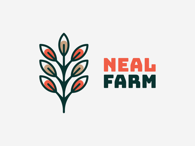 Neal farm! for sale farming nature wheat bio farm tree plant rose flower abstract illustration logodesign logo design symbol branding brand icon mark logo