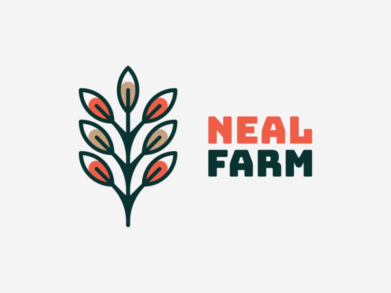 Neal farm! for sale farming nature wheat bio farm tree plant rose flower abstract illustration logodesign logo design symbol branding brand icon mark logo