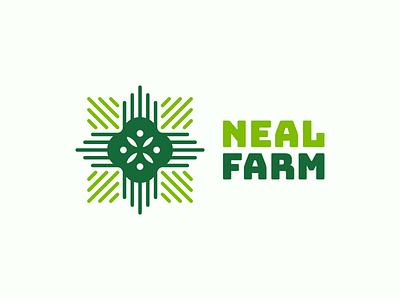 Neal farm ( V2 ) windmill plant for sale farming farm rose wheat flower tree monochrome abstract geometric logodesign logo design symbol branding brand icon mark logo