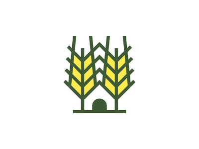 Farmhouse! house home plant camp wheat farmhouse farm monochrome geometric logodesign logo design symbol branding brand icon mark logo