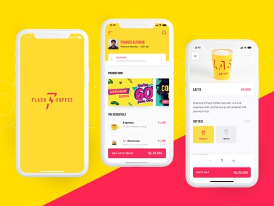 Flash Coffee coffee mvp product design startup app design ux ui