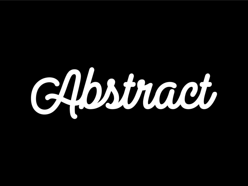 Abstract - Logoscript identity branding vector design team team agency abstract monoline typography logoscript logo
