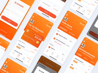 Spenmo - Mobile Interfaces ios startup fintech mobile app banking interface ux clean design website web ui