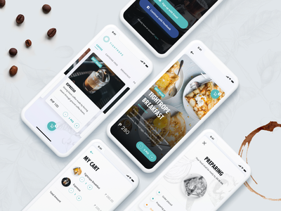 Tightrope Coffee - App UI Design ios coffee mvp startup mobile app ux ui