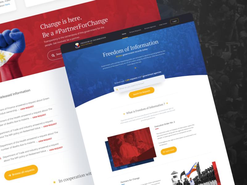 Electronic Freedom Of Information web design website product design uiux ui