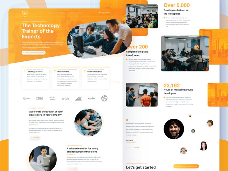 Orange & Bronze University web web design website product design landing page ux ui