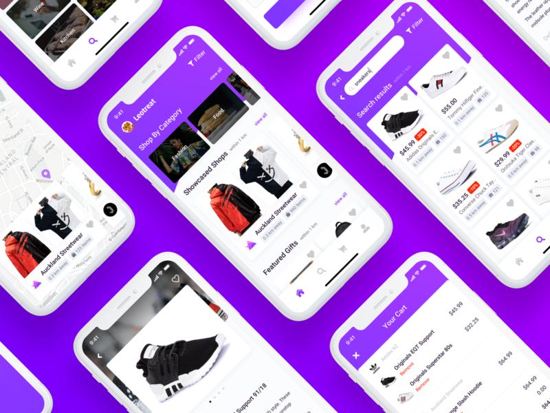 Leotreat App product design mvp startup ux ui app mobile