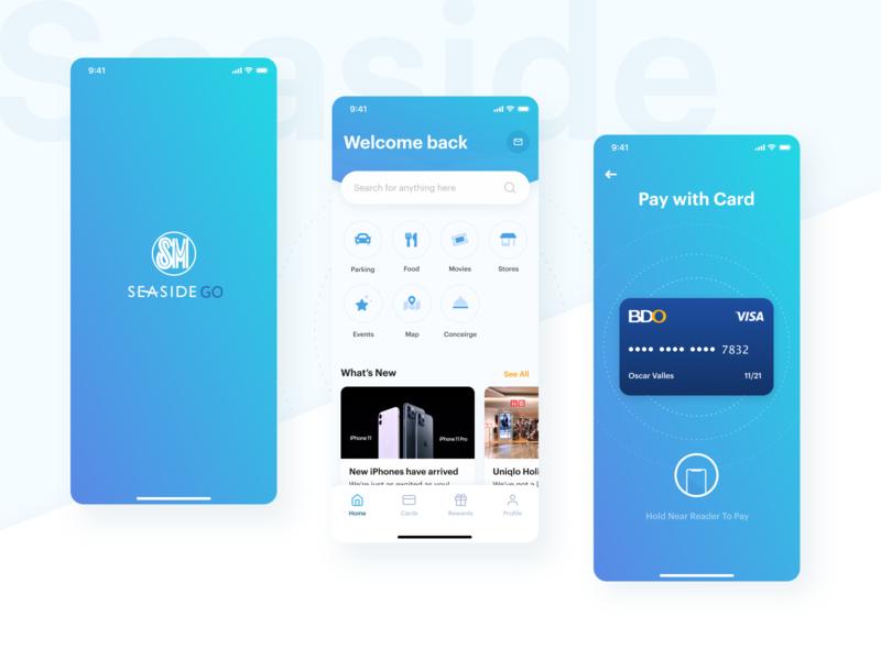 SM Seaside Go mvp clean web mobile app app ux ui