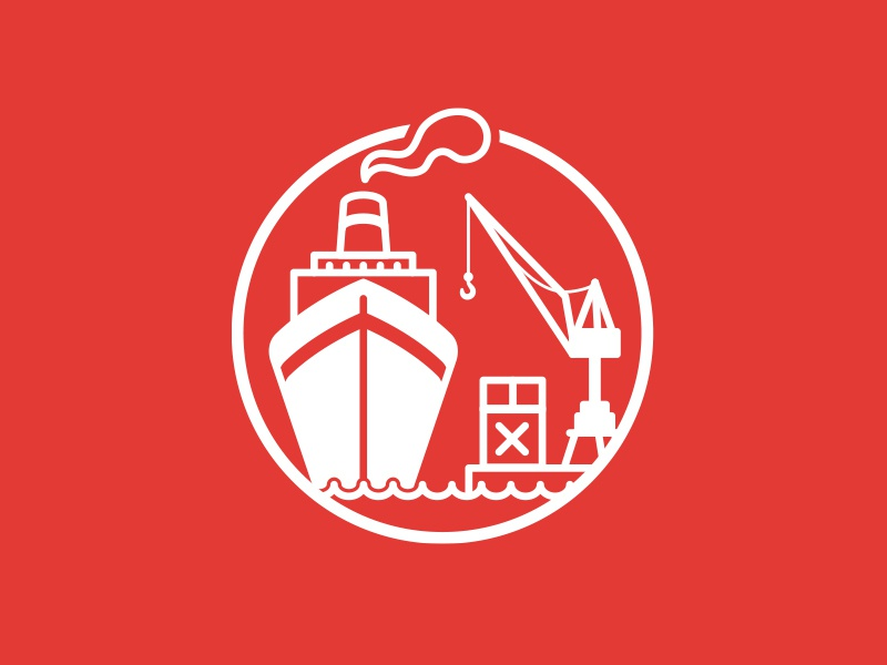 Hamburg freight ship boat crane shipping harbor icon hh hamburg