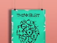 Thinkblot poster mockup