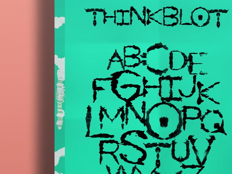 Thinkblot typography rorschach lettering type alphabet poster