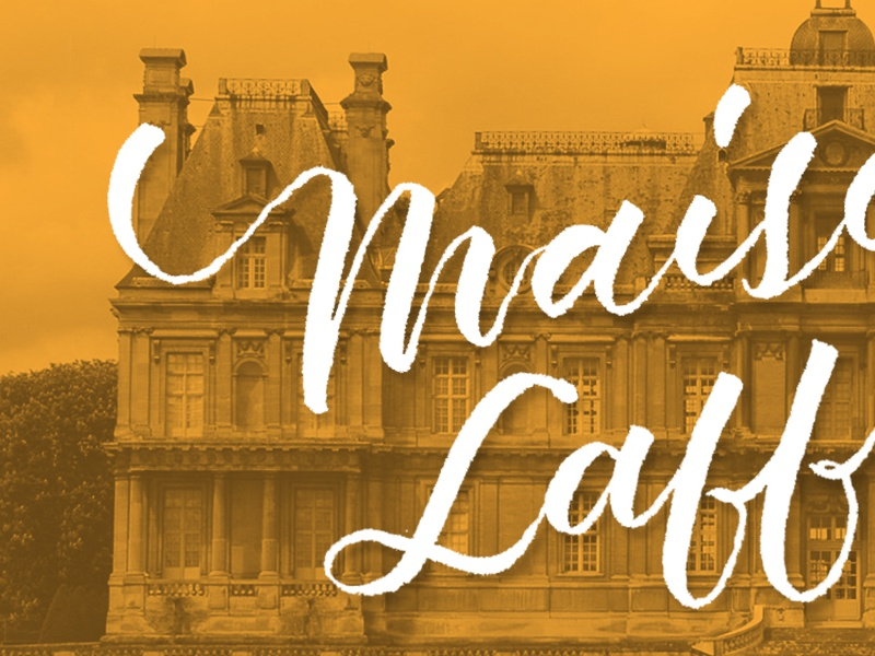 Maisons-Laffitte script type typography handlettering lettering france