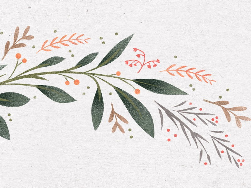 Floral Scape invitation greenery illustrative whimsical illo pattern floral flowers graphic texture vector illustration